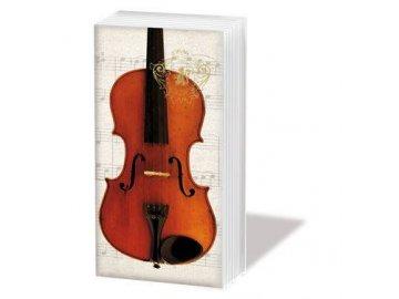 papírové kapesníčky housle viola smetanové