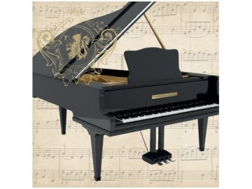 ubrousky piano klavír s notami