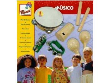sada hudebnich nástrojů dřevěné, 8 dílů