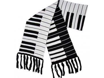 pletený šál klaviatura