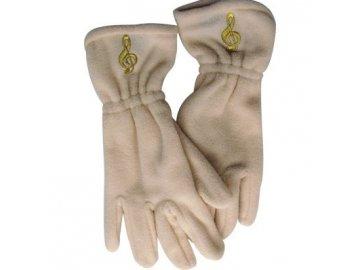 rukavice houslový klíč bílé