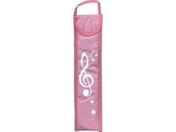 obal na flétnu houslový klíč růžový