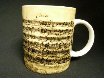 klasický hrnek partitura bach