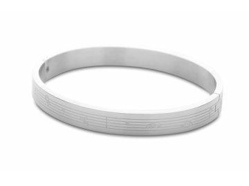 Kovový náramek PARTITURA, stříbrný (1)