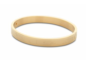 Kovový náramek PARTITURA, zlatý (1)