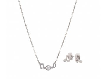 Bižuterní sada náhrdelník a náušnice OSMINOVÉ NOTY