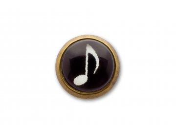 náušnice osminové noty černé