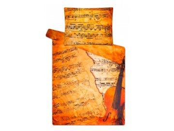 Damaškové povlečení housle