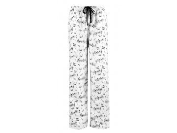 Flanelové kalhoty s notami