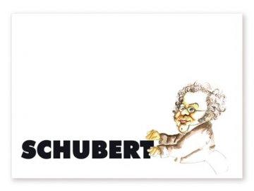 pohlednice karikatura Schubert