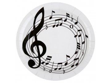 papírové talíře partitura
