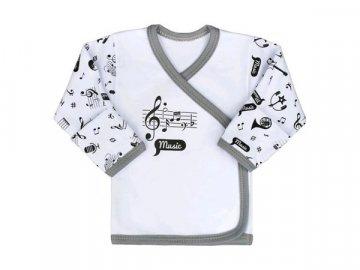 kojenecká košilka s notami a hudebními nástroji
