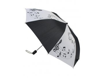 deštní skládací bílo černý, partitura