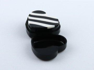 černá guma klaviatura srdce