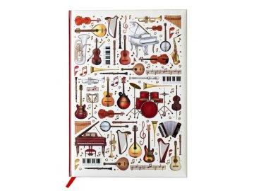 blok A4 hudební nástroje