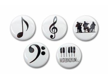 magnetky s hudebními motivy
