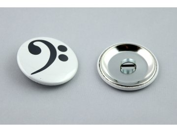 spona na gumičku basový klíč
