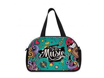 sportovní taška MUSIC turquoise