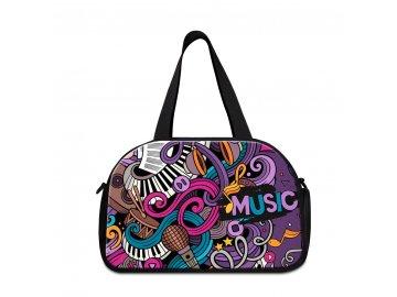sportovní taška MUSIC violet