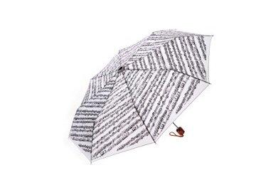 Deštník s partiturou VIVO malý bílý, skládací
