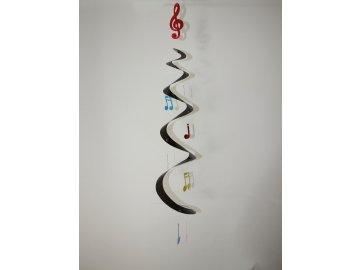 závěsná dekorace s houslovými klíči a notami