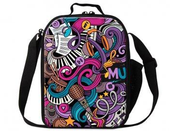 taška přes rameno music violet
