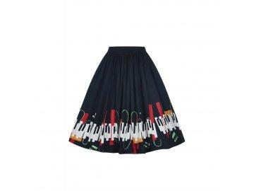 černá sukně s klaviaturou a notami 2 51513c48ac3