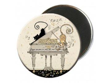 magnet kočky piáno, klavír