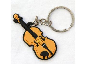 přívěsek na klíče housle