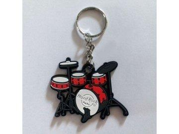 přívěsek na klíče bicí červené