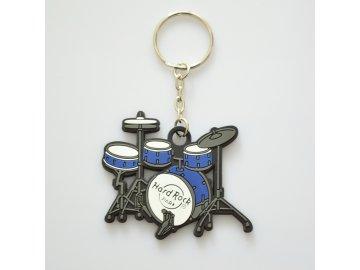 přívěsek na klíče bicí modré