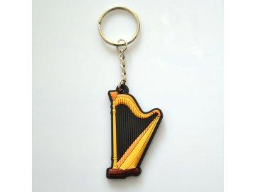 přívěsek na klíče harfa