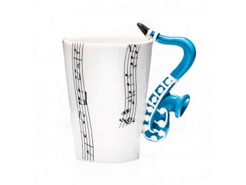 hrneček saxofon modrý