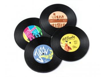 podšálky gramofonové desky
