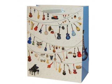 dárková taška hudební nástroje velká