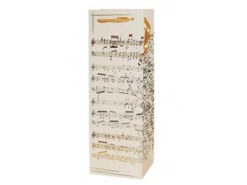 dárková taška na lahev luxusní partitura noty