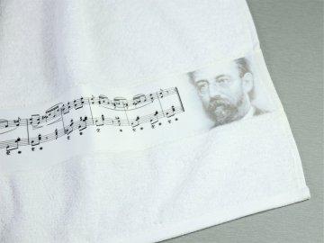 osuška Bedřich Smetana bílá detail