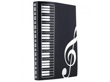 pořadač s klaviaturou a klíči černé