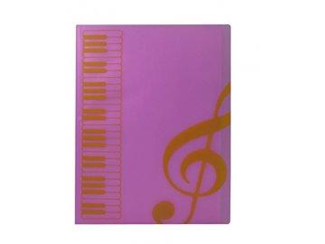 pořadač s klaviaturou a klíči růžové