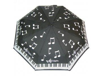 deštník s notami a klaviaturou