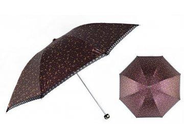 Deštník MUSIC CHINESE STYLE - fialový skládací