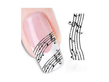 samolepky na nehty partitura