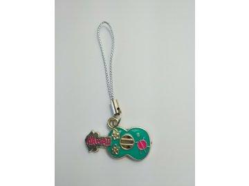 Přívěsek na klíče kytara Hawai (1)