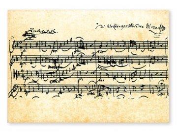 Pohlednice Mozart