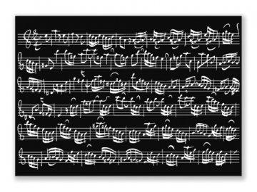 Pohlednice PARTITURA Bach černá