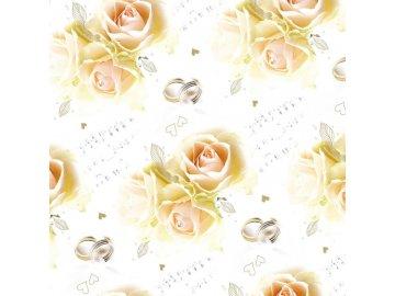 svatební balící papír s notami