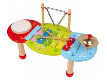 hudební stoleček s notami