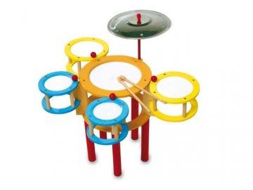 dřevěné barevné bubny