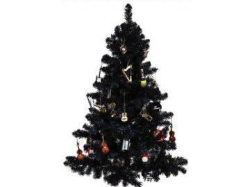 pohlednice vánoční strom hudební nástroje