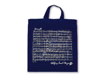 taška partitura Mozart - krátká ucha - modrá
